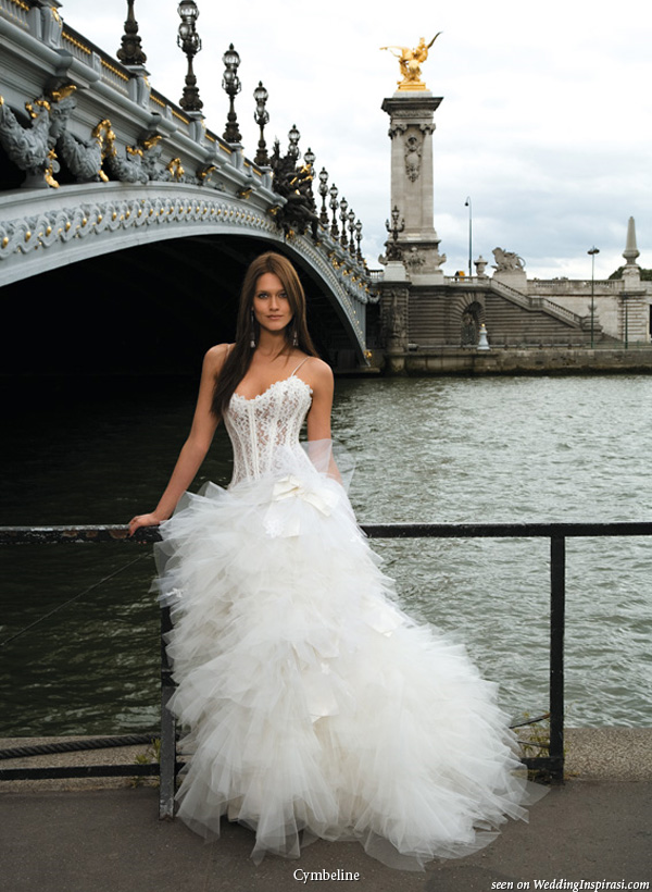 Wedding Dress Lace Corset Top : Cymbeline paris bridal collection wedding inspirasi