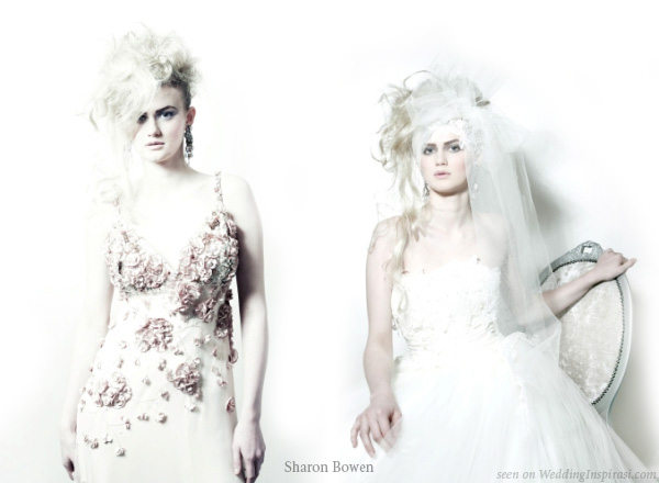 Wedding dresses from the English Romantics bridal collection from Sharon Bowen Couture