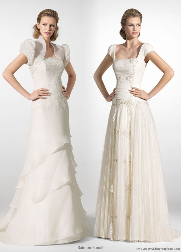 Fairytale wedding dresses with puff sleeves from Spanish designer Raimon Bundo