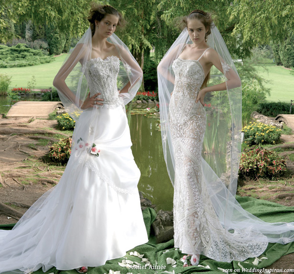 Garden wedding dresses from Atelier Aimee