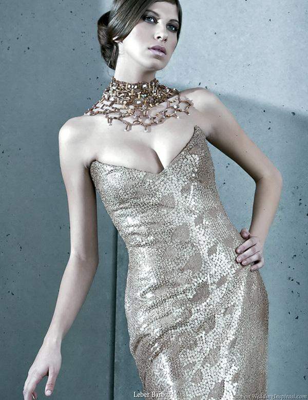Gold wedding dress by Léber Barbara