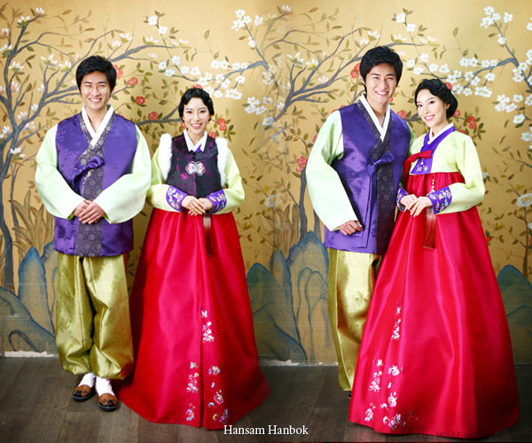 These dresses which comes in cheery vibrant colors are from Hansam Hanbok