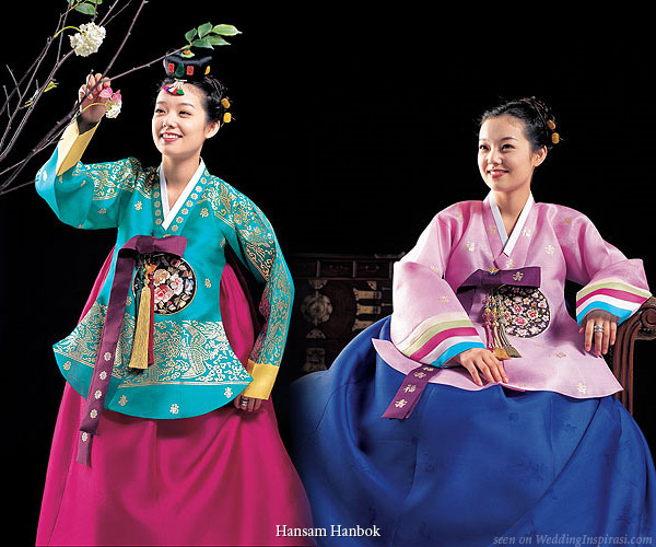 Wedding Dress Color Inspiration The Korean Hanbok
