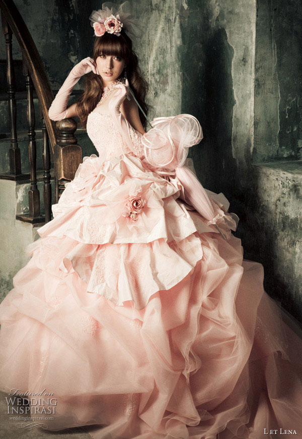 L et Lena wedding dresses by fashion model and singer Fujii Lena