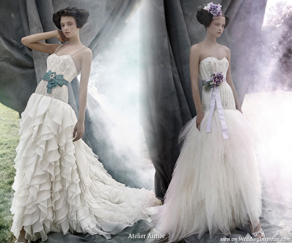 Ruffle tier strapless wedding dress from Italian bridal house Atelier Aimee
