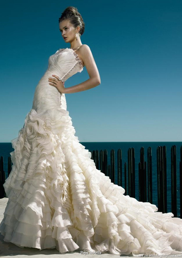 Beautiful wedding gown from the designers at Pepe Botella Novias