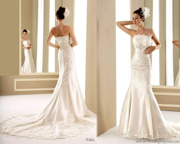 Sexy mermaid wedding dress from Nalia 2011 avance collection
