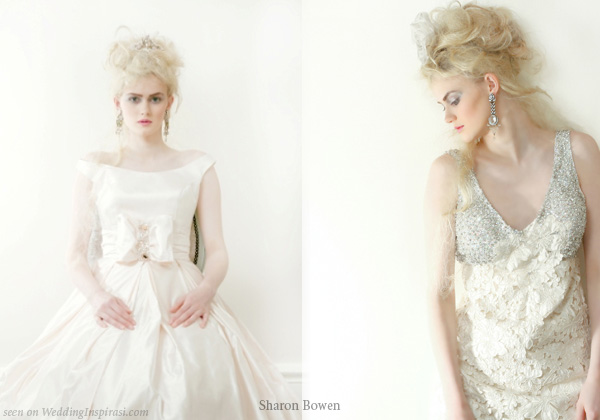 Sharon Bowen Couture bridal collection - wedding dresses with straps