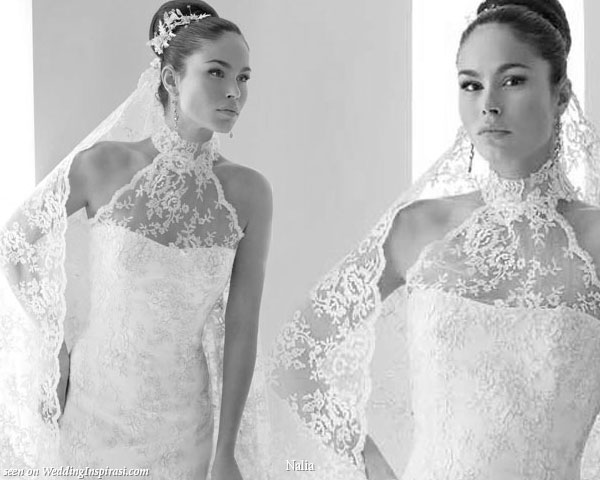 Nalia wedding collection 2010 2011 wedding inspirasi for Spanish wedding dresses lace