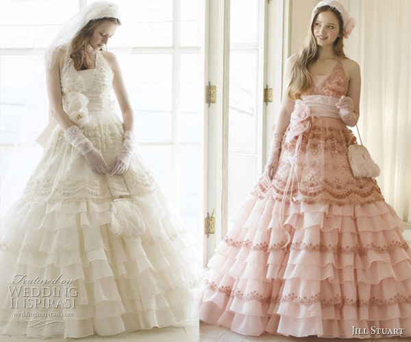 Cute - Pink and white frill wedding dress from fashion designer Jill Stuart