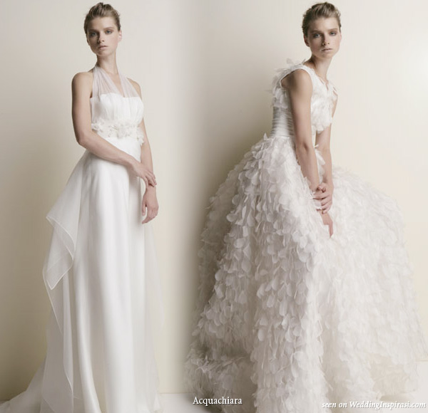 Acquachiara wedding dresses 2010 collection- kerria and thecla gowns