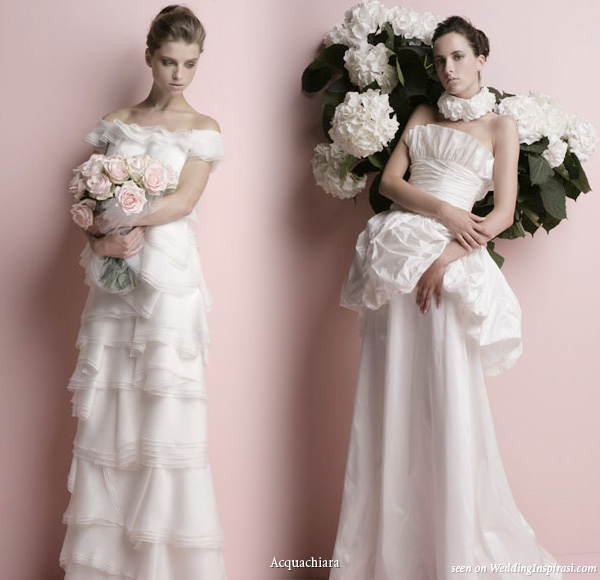 Acquachiara wedding gowns 2010 bridal collection - felicia and coronilla dresses