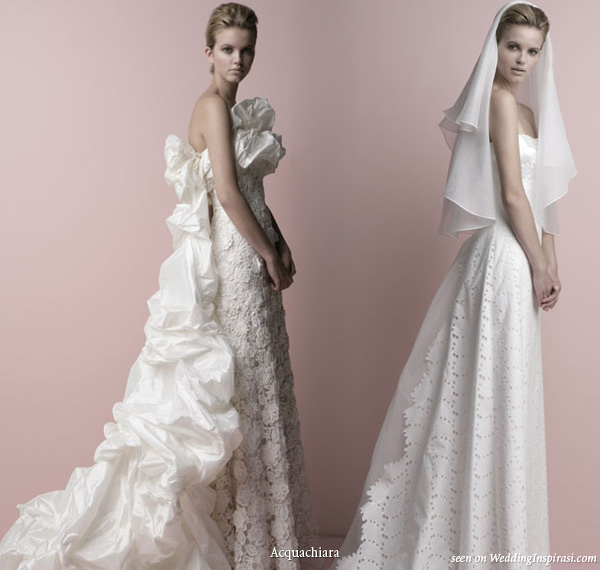 2010 collection Acquachiara bridal gowns - verbena and narciso dresses