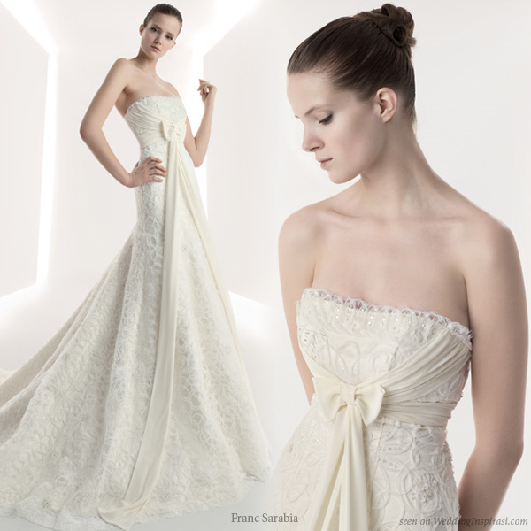 wedding dresses 2010 collection. Strapless wedding dress from