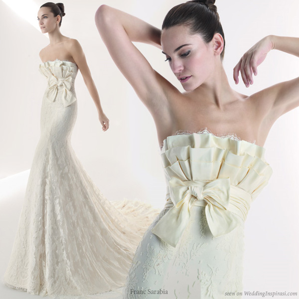 Wedding dresses with bows - A gown from bridal house Franc Sarabia