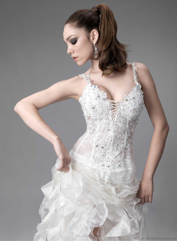 Deluxe crystal wedding dress by Bulgarian designer Julia Kontogruni