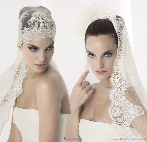 Franc Sarabia velos collection romantic veils and lace mantilla