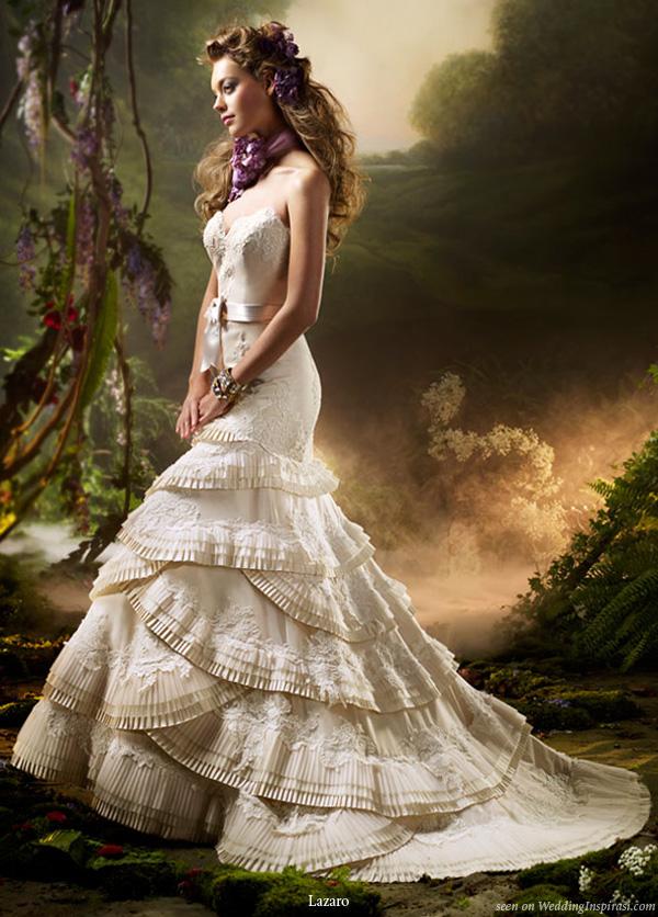 Lazaro spring 2010 bridal collection wedding inspirasi for Lazaro lace wedding dress