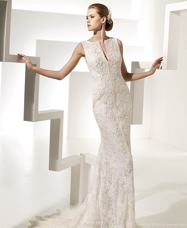 Manuel Mota for Pronovias 2010 wedding dress with pockets Tarot