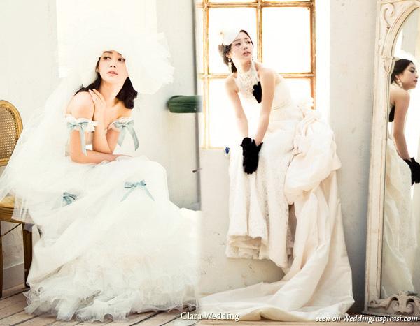 Top Clara Wedding Romantic Bridal Gowns Inspirasi With Dresses Korea