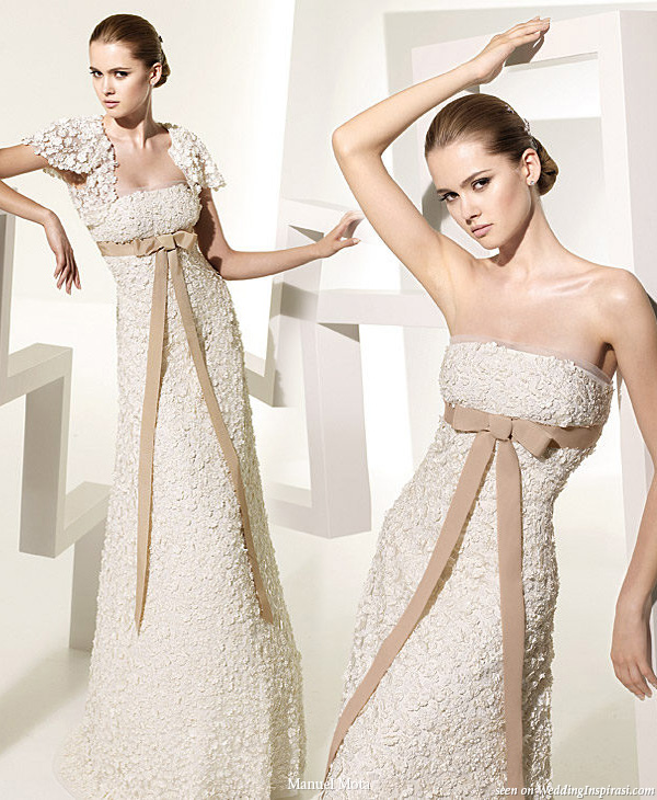 Tapioca wedding dress by Manuel Mota for Pronovias 2010 bridal collection