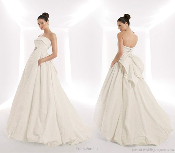 Wedding dress with hidden pockets by spanish bridal house Franc Sarabia