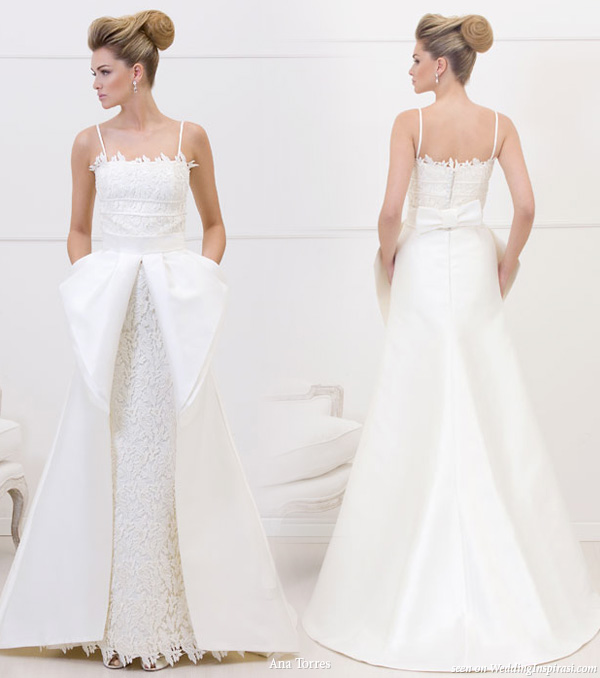 Wedding dress with pockets from Ana Torres 2010 bridal gown collection