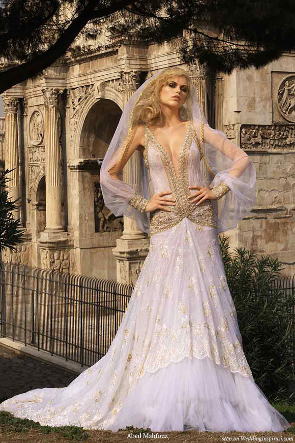 Sexy wedding gown from Abed Mahfouz 2008 bridal collection
