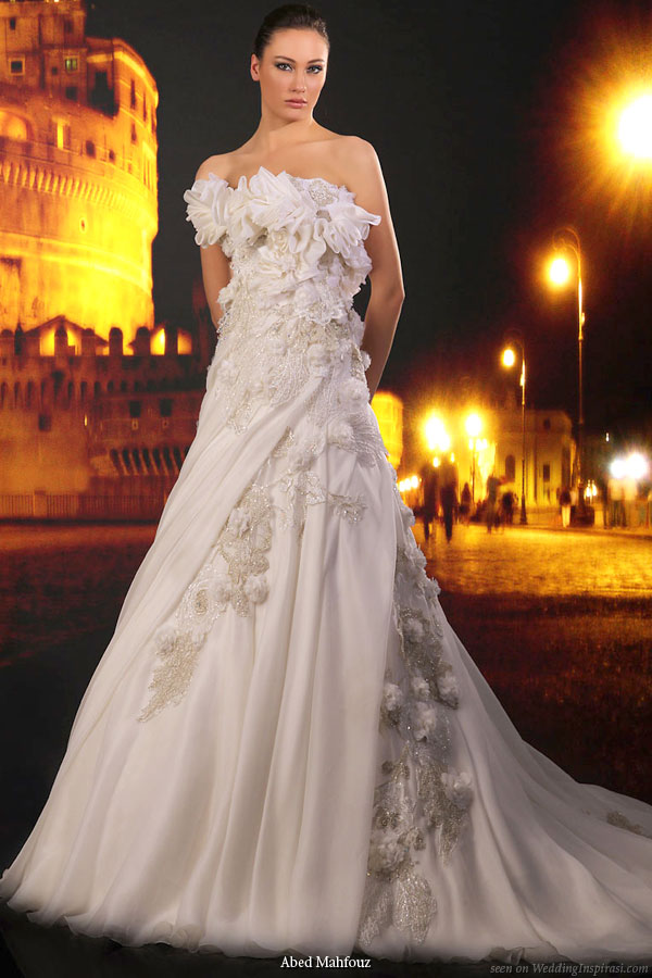 Abed Mahfouz bridal collection 2010 - strapless wedding gown