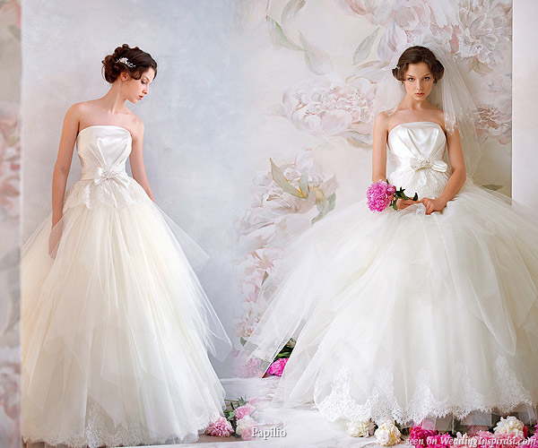 Russian ballerina ballgown style wedding gown by Papilio