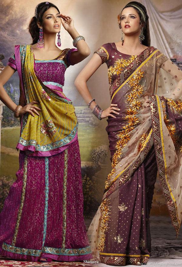 Colorful wedding inspiration - Indian wedding saree from UK based bridal house