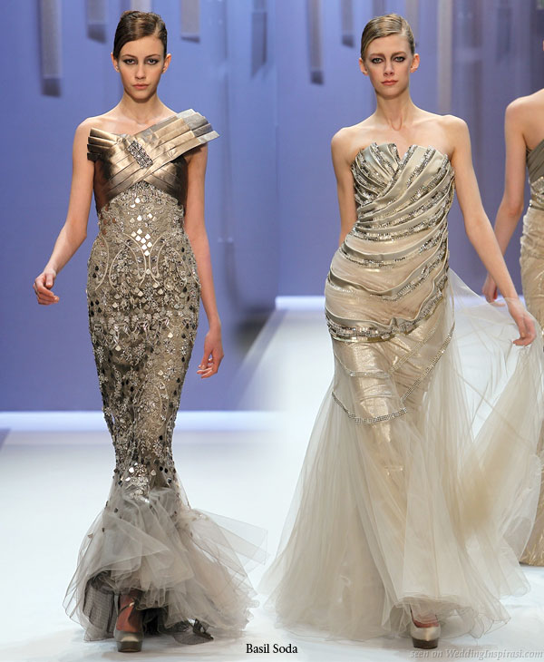 Reflect and shimmer, wedding dress inspiration from the runways of Basil Soda fashion show