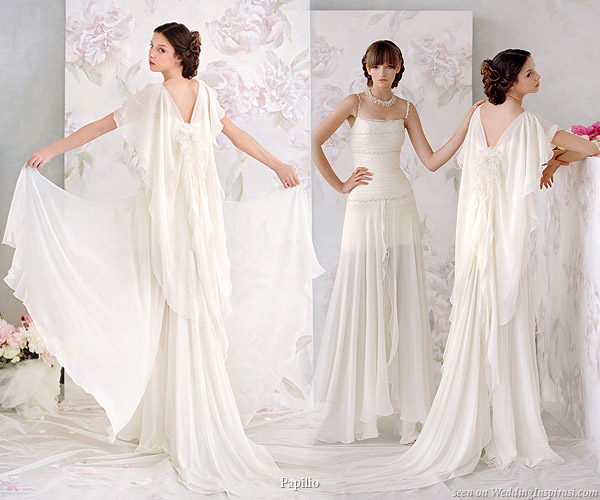 Papilio 2010 nymph wedding dresses collection wedding for Greek goddess style wedding dresses
