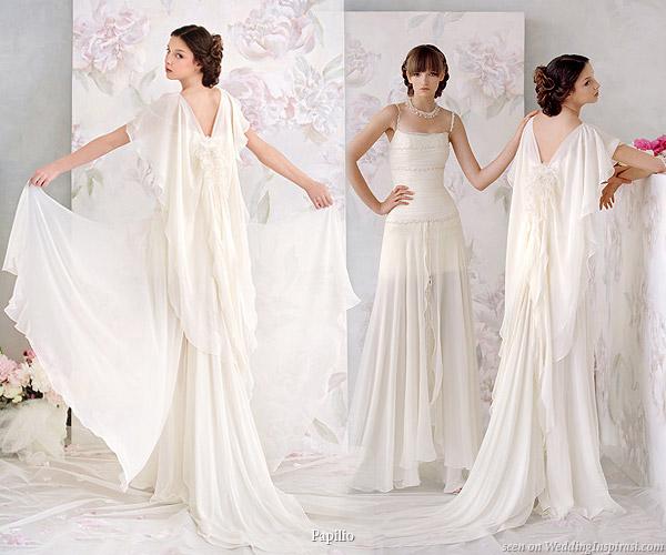Beautiful greek goddess style butterfly wedding dress