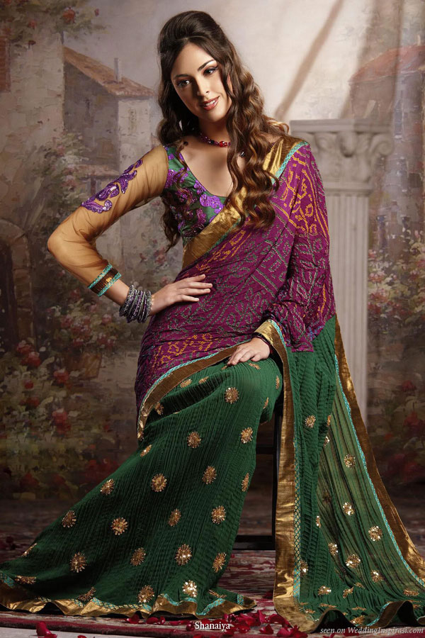 Shaadi chic - exotic jewel tones on an Indian bridal sari