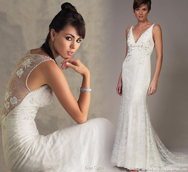 Back of wedding dress by Lian Carlo Beautiful wedding dresses from Lian