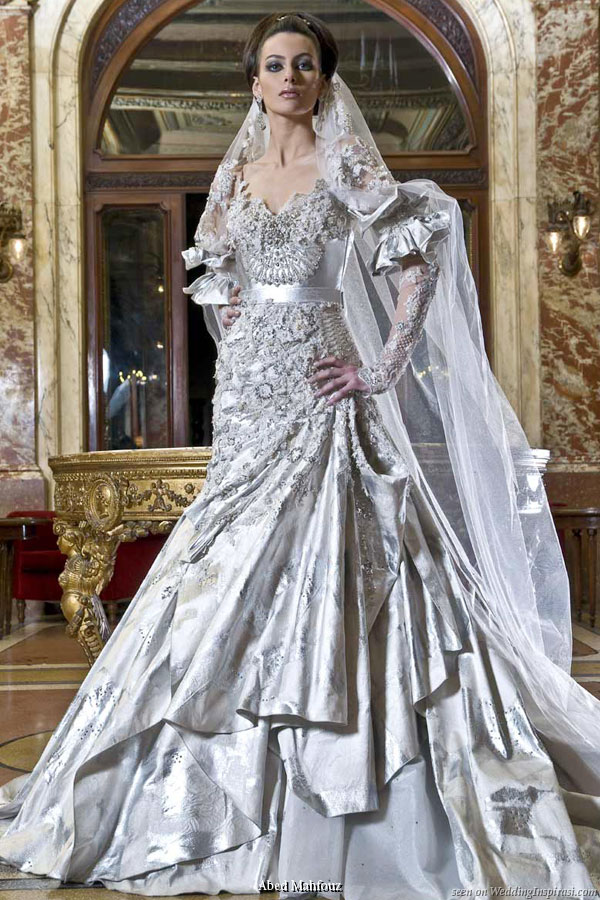 Luxurious wedding dress from Abed Mahfouz 2009 collection