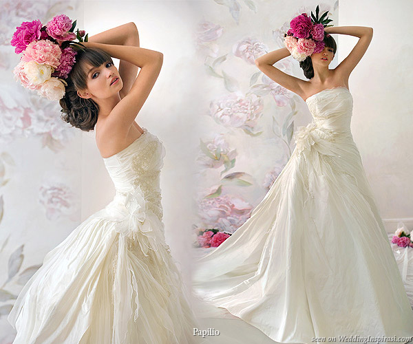 Fit for a beautiful russian bride, beautiful gowns from Papilio 2010 collection