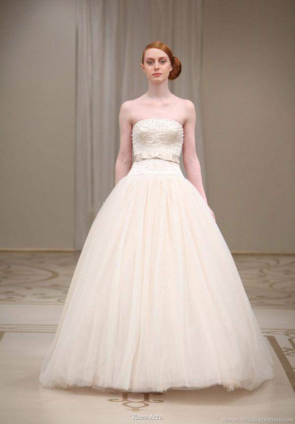 Reem Acra Spring 2010 Bridal Collection Wedding Inspirasi