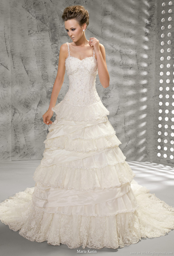 Ruffle Tiers With Spaghetti Straps And Structure Bodice
