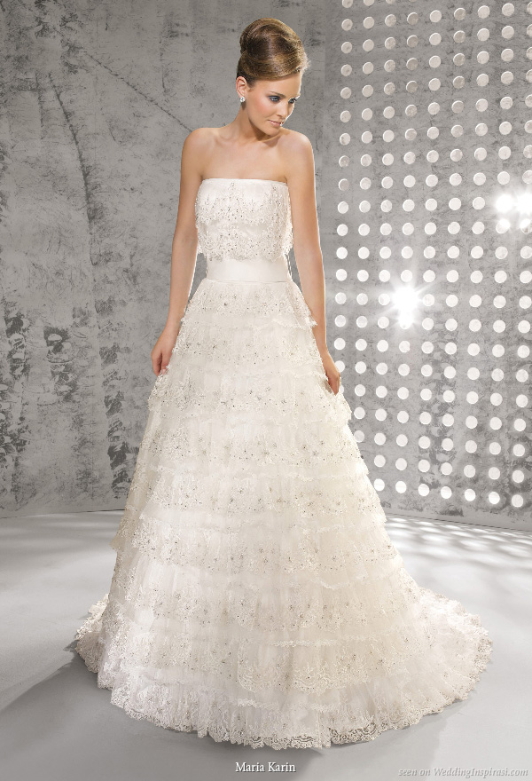 Tiered Wedding Gown