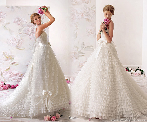 Prima ballerina ruffle bridal gown - sweet attire for your wedding day from Papilio