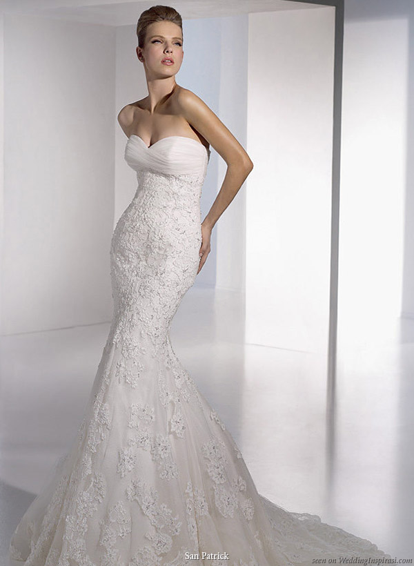 Wedding Dresses Lace Strapless : San patrick bridal collection wedding inspirasi