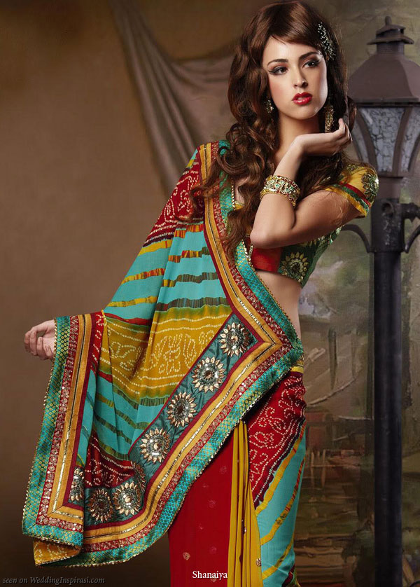 Wedding in full color - inspiration from a saree by Shanaiya bridal 2010 designs