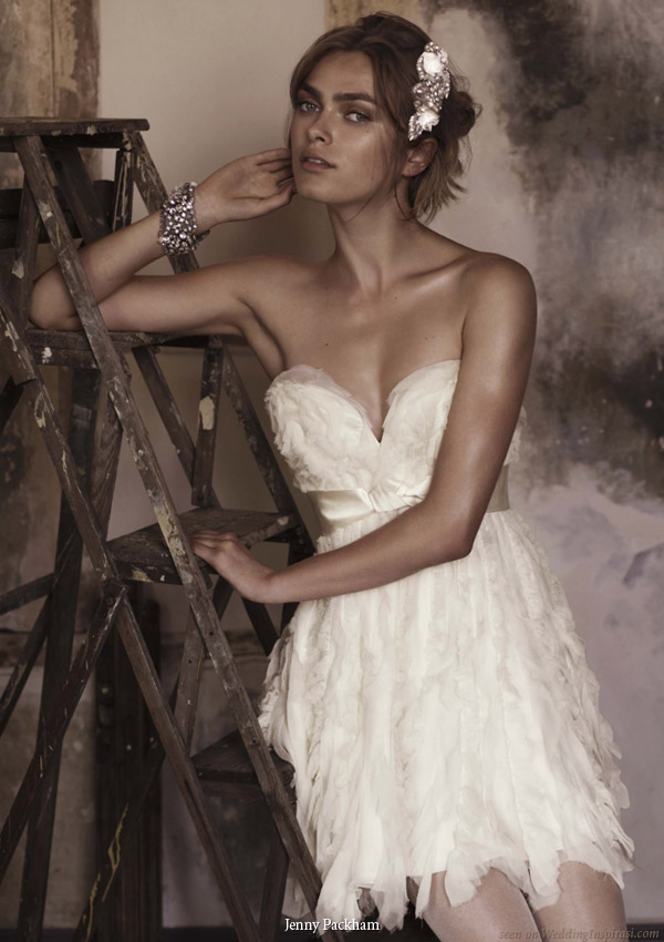 short wedding dresses 2010. Beautiful wedding gowns from