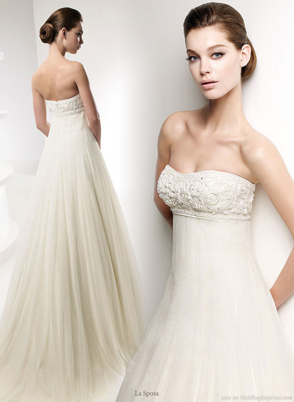 La Sposa 2010 collection wedding gown - Sweet strapless empire line bridal dress Lauria