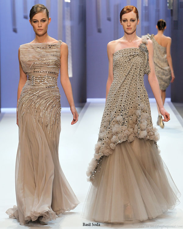 Two tone tule wedding gown inspiration off the runways of Basil Soda Spring Summer haute couture 2010 collection