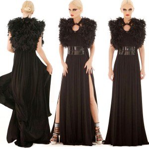 Black feather wedding dress inspiration from Marc Bouwer Spring 2010 collection