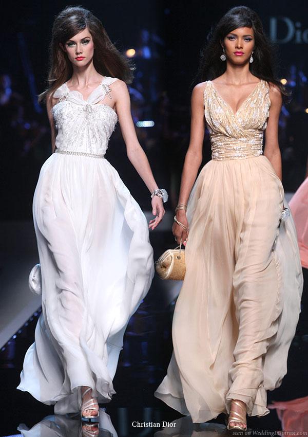 Christian Dior runway show Resort 2011 Shanghai - white and ivory dresses