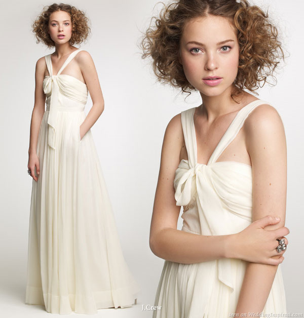 Draped wedding gown with pockets from J.Crew fall 2010 collection preview
